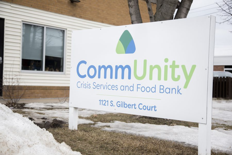 The CommUnity Crisis Services and Food Bank is seen on Tuesday, March 12, 2019. Formerly known as the Crisis Center of Johnson County, the food bank rebranded in order to emphasize the importance of community.