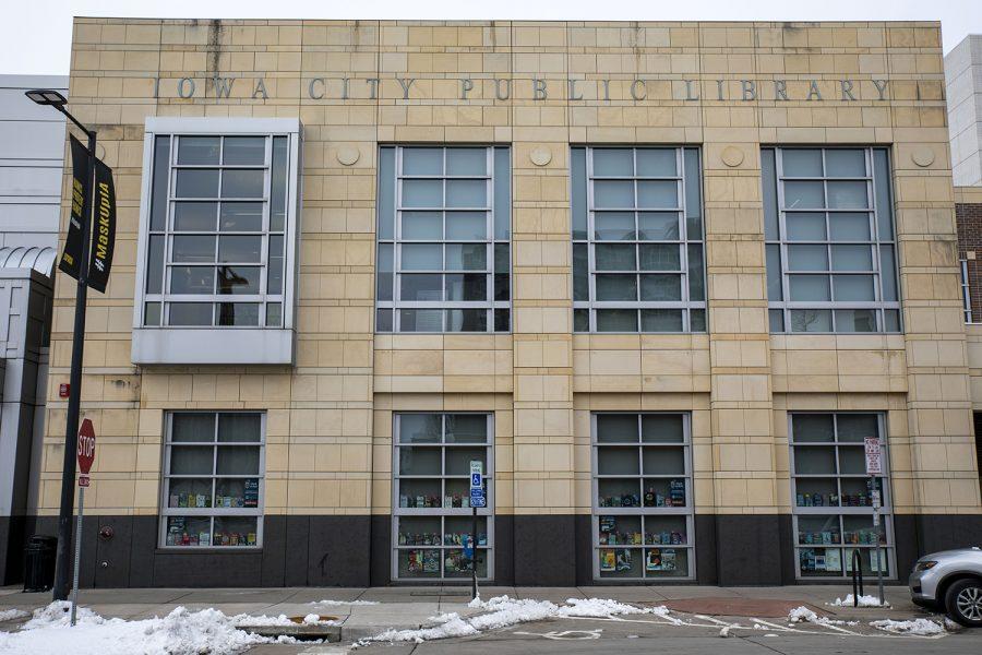 Iowa City Public Library on Wednesday, Feb. 3, 2021.