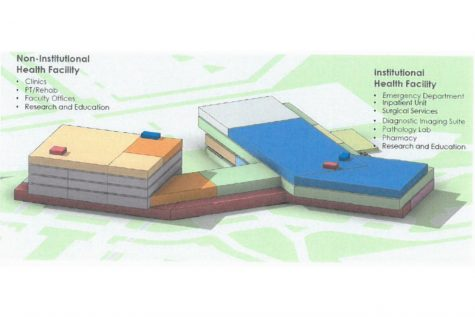 A schematic for the proposed North Liberty facility is shown. The schematic comes from UIHC