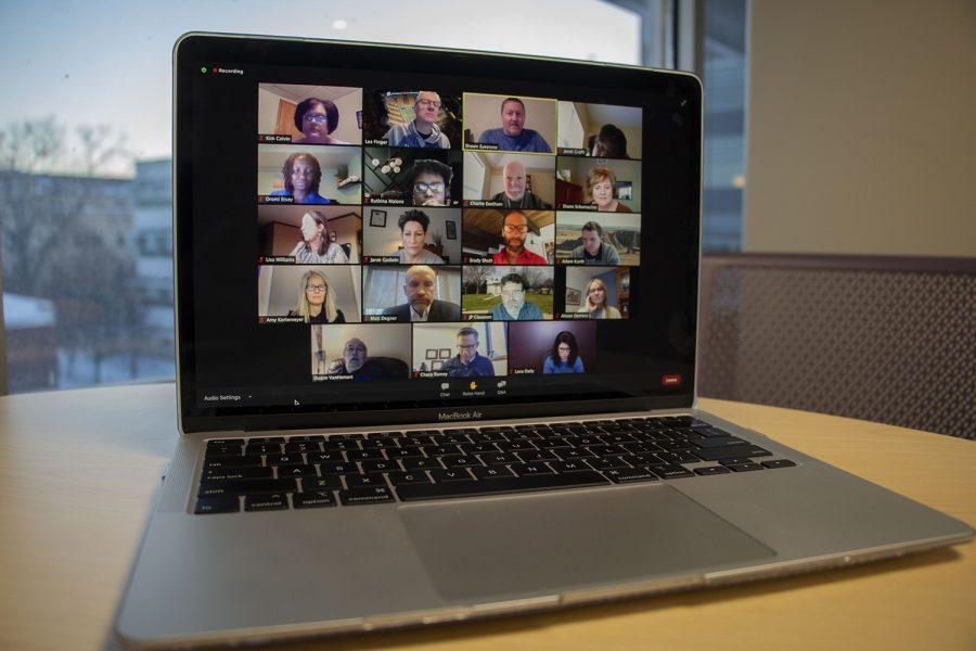 A virtual ICCSD School Board meeting was held over zoom on Tuesday, January 26, 2021. (Grace Smith/The Daily Iowan)