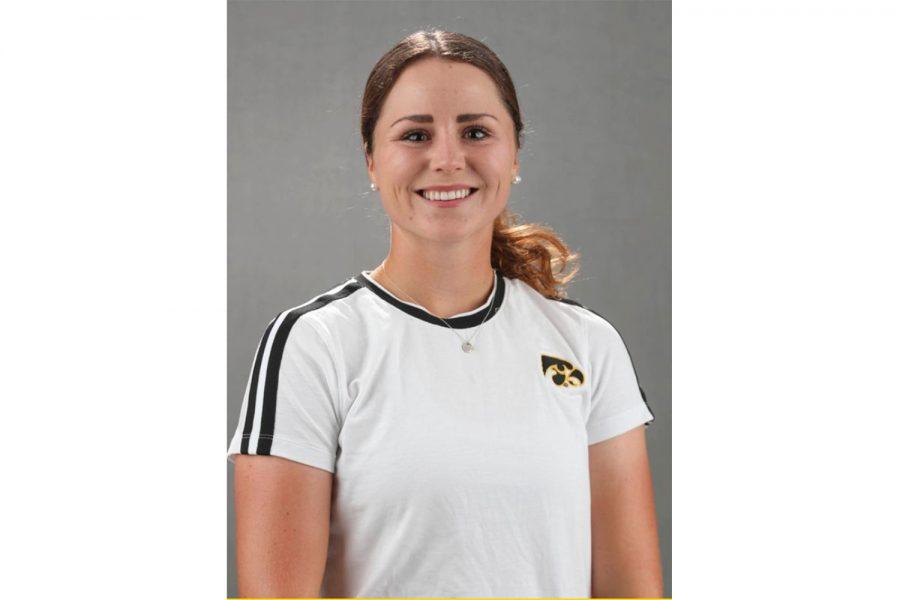 Iowa womens golfer Lea Zeitler. Contributed.