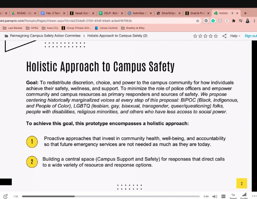 Reimagining Campus Safety committee holds first town hall, unveils three prototypes for changing campus safety
