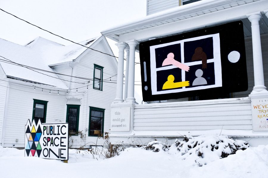 Public Space One, home of the Center for Afrofuturist Studies, is seen on February 7, 2021. All programming has moved online due to the COVID-19 pandemic. Currently, there are four artists in residence: Antoine Williams, Donté Hayes, Deborah Goffe, and André M. Zachery.