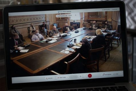 The Appropriations Subcommittee Meeting is seen taking place on Wednesday, Feb. 10, 2021. The meeting was held over webex due to the ongoing COVID-19 pandemic.