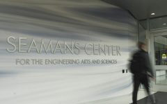 Entrance to the University of Iowa's Seamans Center for the Engineering Arts and Sciences at 103 South Capitol Street, Iowa City, IA on Friday, Oct. 2, 2020.