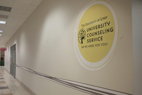The University Counseling Services office is seen in the Old Capital Mall on Monday, February 17, 2020.