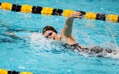 Iowa's Alyssa Graves competes in the women's 1000m freestyle during a swim meet at the Campus Recreation and Wellness Center on Saturday, Jan. 16, 2021. The women's team hosted Nebraska while the men's team had an intrasquad scrimmage.