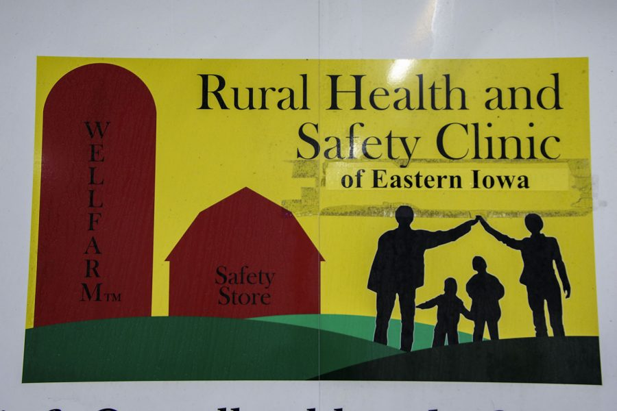 A sign hangs at the Johnson County Fairgrounds on Tuesday March 23, 2021.