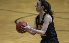 Iowa guard Caitlin Clark prepares to shoot a 3-pointer during the second round of the NCAA womens basketball championship against No. 4 Kentucky on March 23, 2021 at the Bill Greehey Arena at Saint Marys University in San Antonio, Texas. The Hawkeyes defeated the Wildcats, 86-72.