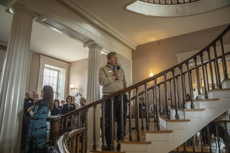 University of Iowa President Bruce Harreld speaks at the diversity, equity, and inclusion event at the Old Capitol Museum on Monday, April 29, 2019.