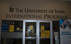 The University of Iowa International Programs office is seen on March 28, 2021 in the Old Capitol Mall.