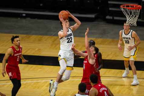 Patrick McCaffery, reserves push Hawkeyes past Huskers at Carver-Hawkeye Arena