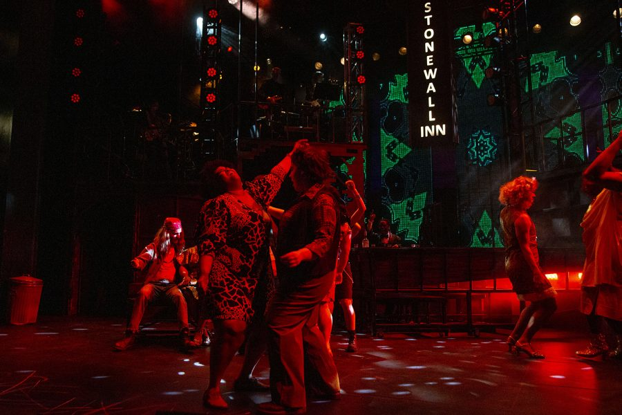 Actors dance during the Hit the Wall dress rehearsal in the Theater Building on Tuesday, Jan. 28, 2020. Hit the Wall depicted the violence of Stonewall riots.