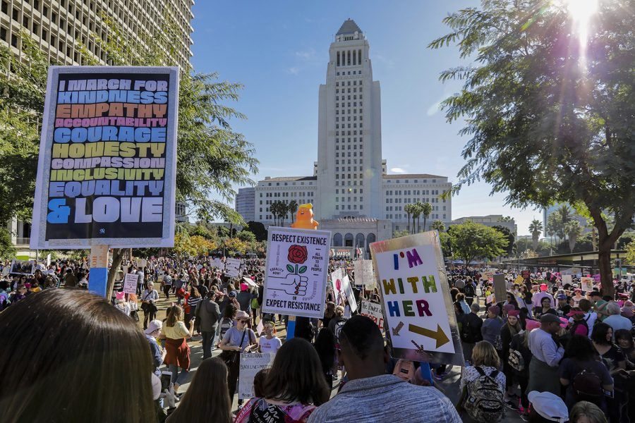 The third annual Womens March in Los Angeles in January drew thousands of participants. Gay men need to realize the common cause they have with feminists.