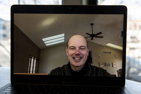 Associate Provost and Dean of International Programs Russ Ganim poses for a virtual portrait on Tuesday, March 2, 2021.
