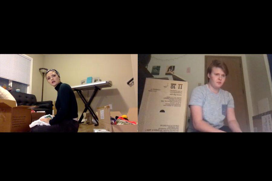 Screenshot+of+Zoom+rehearsal+for+%22Skeleton+Closet%22+of+Courtney+Graham+%28left%29+and+Kyle+Braeske+%28right%29.+