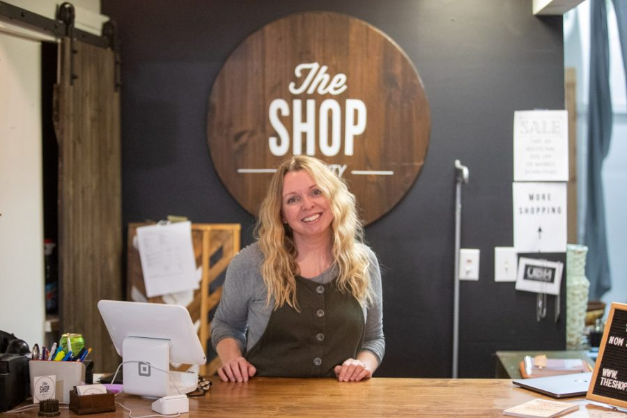 Co-owner of The Shop, Jessica Meyer, poses for a portrait on Saturday, March 13, 2021.