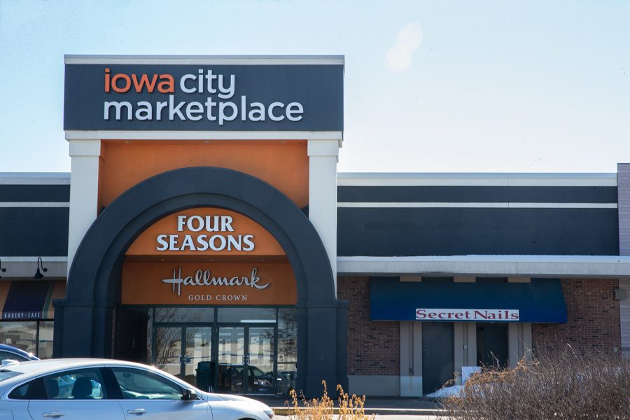 The Iowa City Marketplace is one of the areas that is a target for the energy efficiency grant. The Iowa City Marketplace is seen in Iowa City on March 2 2021.