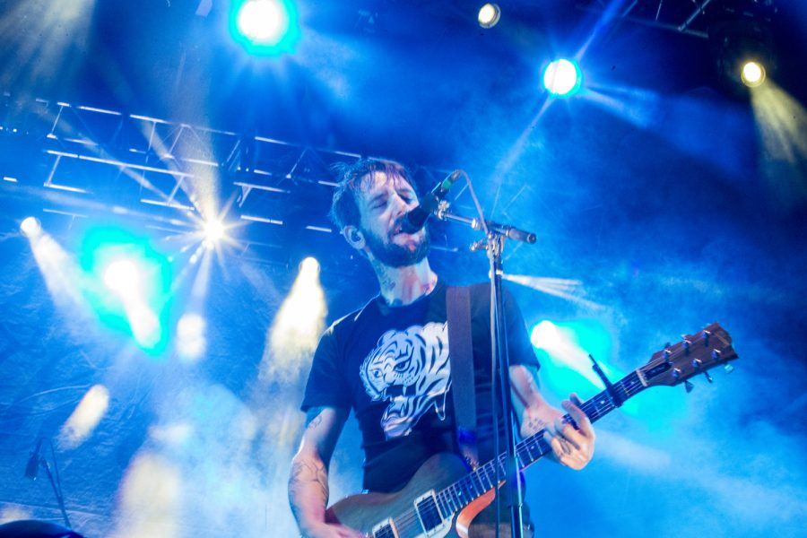 Ben Bridwell sings on Friday, August 3rd, 2018. He is the lead singer of Band of Horses, a popular rock band. This is Hinterlands fourth year in existence.