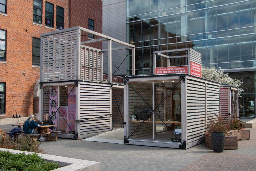 An+art+installation+by+Art+Onsite+is+seen+in+the+Pedestrian+Mall+near+Washington+St.+on+Sunday%2C+April+18.+%28Kate+Heston%2FThe+Daily+Iowan%29