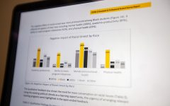 Professional Student Survey Report from the Health and Safety Committee of the University of Iowa Graduate and Professional Student Government (GPSG) as seen on April 1. The report details the well-being of students during COVID-19.