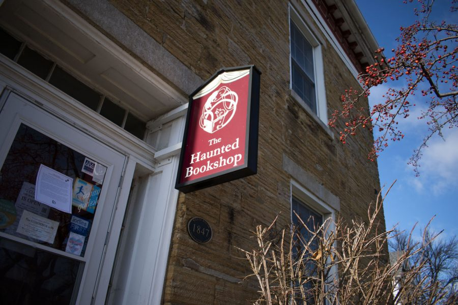 The Haunted Bookshop in Iowa City is seen on Monday, Nov. 30, 2020.