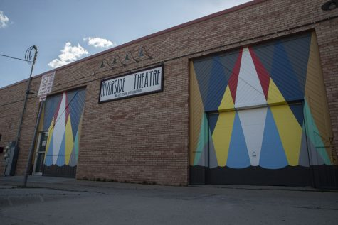 The Riverside Theatre is seen on Sunday, April 26, 2020 (Jake Maish/The Daily Iowan)