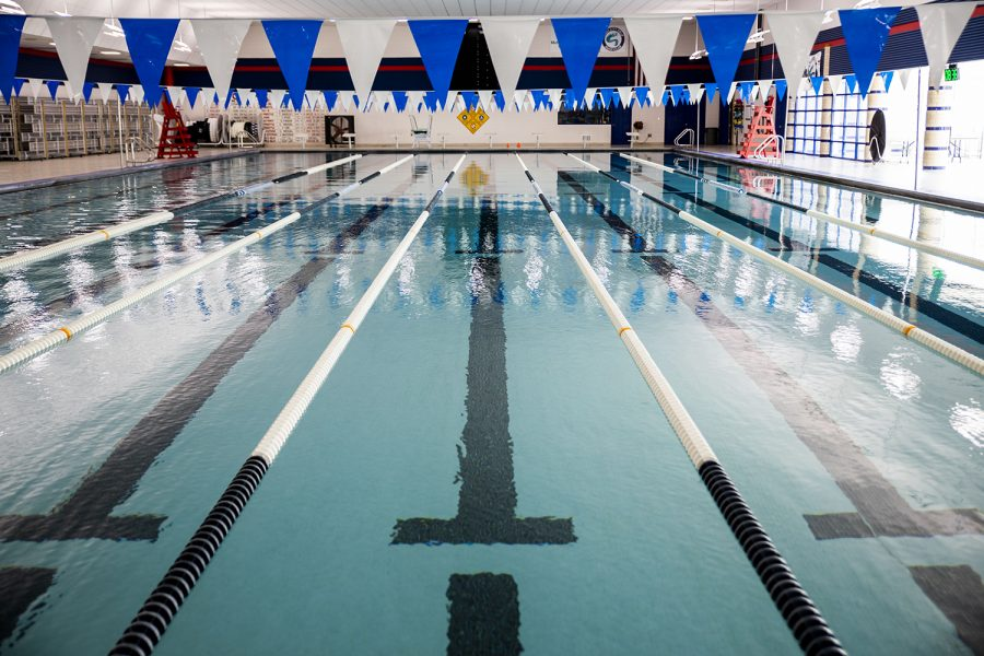 The indoor pool at Mercer Park Aquatic Center on Monday, April 12, 2021. The center is located at 2701 Bradford Dr.