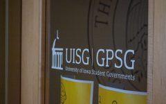 University of Iowa Student Government office door as seen on Jan. 26.