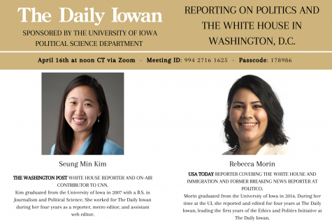 Daily Iowan to host Q&A today at noon with White House reporters Seung Min Kim and Rebecca Morin