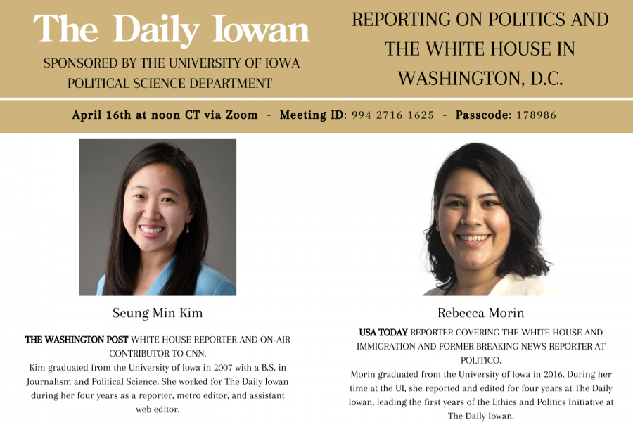 Daily+Iowan+to+host+Q%26A+today+at+noon+with+White+House+reporters+Seung+Min+Kim+and+Rebecca+Morin