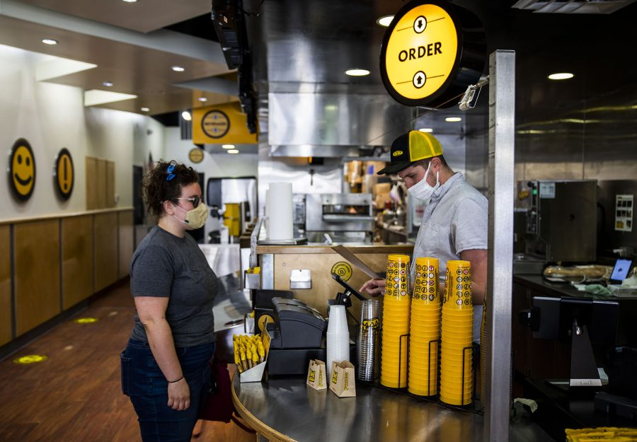 Customer placing an order on Wednesday, May 5, 2021. At Which Wich customers can place a sandwich order of their own making, or order one on the many specialty sandwiches.