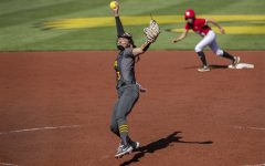 Iowa right handed pitcher Allison Doocy throws the ball during a softball game against Nebraska on Friday, May 7, 2021 at Pearl Field. The Hawkeyes defeated the Huskers, 1-0.