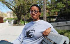 Donika Kelly, an assistant professor of English at the University of Iowa, is seen outside of the English Philosophy Building on Friday, April 30, 2021. Kelly is also the author of an upcoming poetry collection, titled The Renunciations.