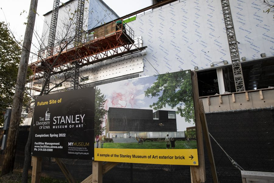 The Stanley Art Museum construction site is seen on the University of Iowa campus on Thursday, September 17, 2020. According to the University of Iowa website for the museum, construction began in 2019 and is slated for completion in winter of next year.