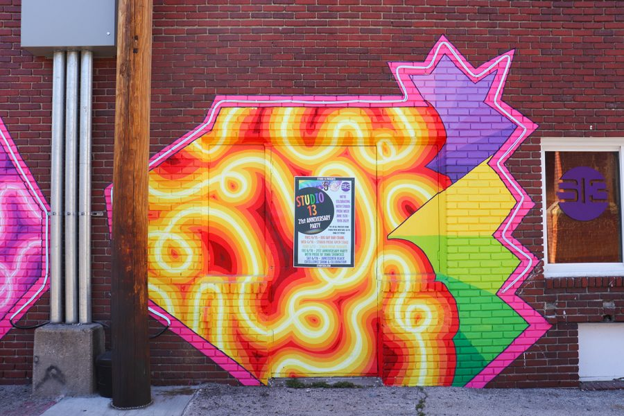 The new mural at Studio 13 in downtown Iowa City is seen on June 16, 2021.