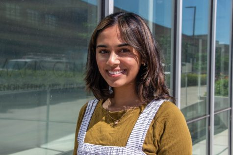 University of Iowa student Pareen Mhatre poses for a portrait in Iowa City, IA on June 22, 2021. Mhatre is an immigration advocate for Improve the Dream.