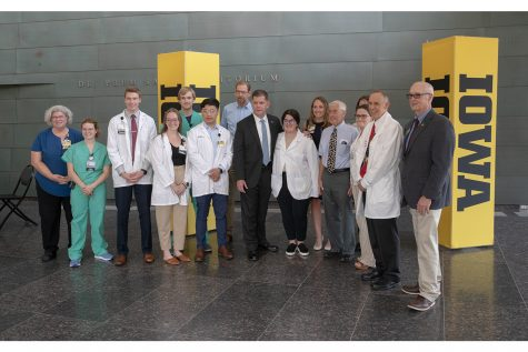 Secretary of Labor Marty Walsh visited the Medical and Education Facility (MERF) on June 17 2021. He thanked frontline health care workers for helping in the battle against the COVID-19 Pandemic. (Daniel McGregor-Huyer)