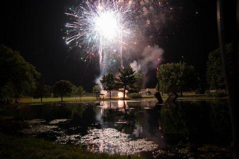 Fireworks are set ablaze at P.t. Morrison Park on July 4 2021.