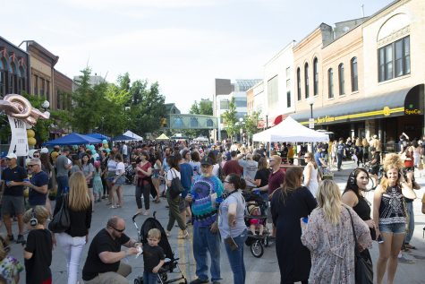South Dubuque Street is seen during Block Party on June 22, 2019. (Emily Wangen/The Daily Iowan)