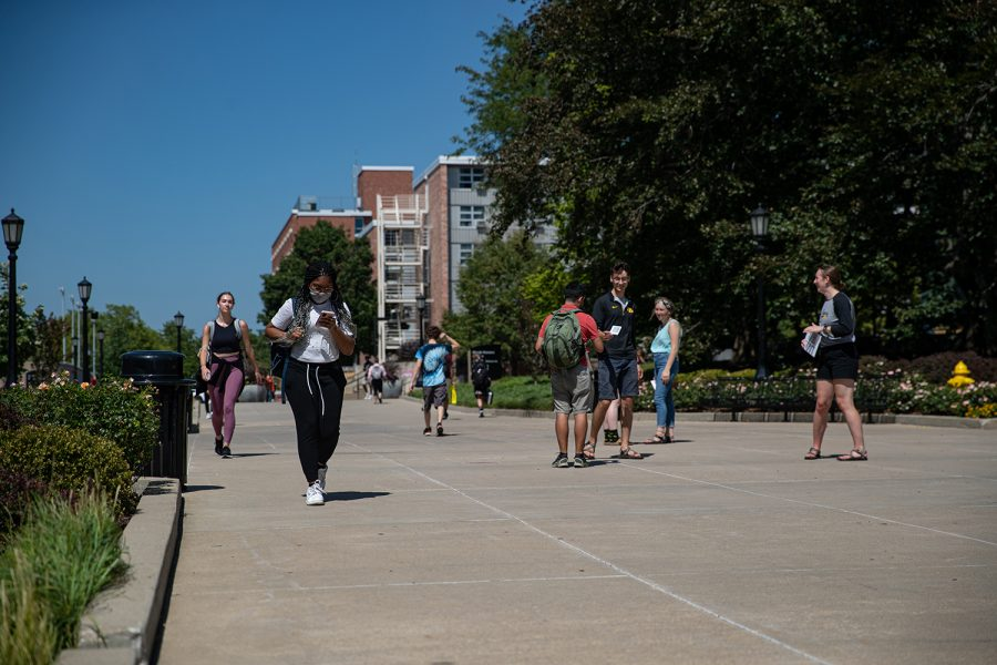 Students are shown walking to class on Aug. 23, 2021.
