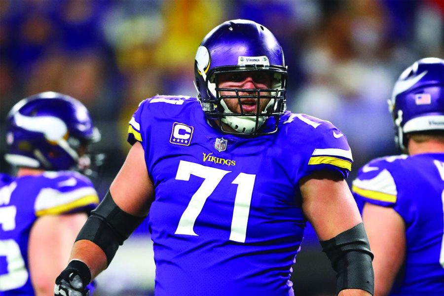 Parkston native Riley Reiff has played every down on offense for the Vikings this season. USA Today © USA Today via Imagn Content Services, LLC