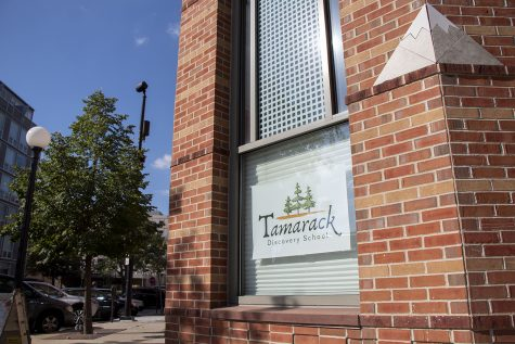 The Tamarak Discovery School is pictured on Monday, Aug. 16, 2021 in downtown Iowa City. The private school will host kindergarten through sixth grade and open this week. (Grace Smith/The Daily Iowan)