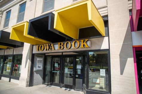 Iowa Book is seen on Aug. 4, 2021. the bookstore will now be managed day-to-day by Barnes and Noble.
