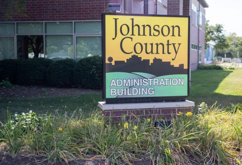 The Johnson County Administration Building is seen in Iowa City on Monday, Aug. 1, 2021.