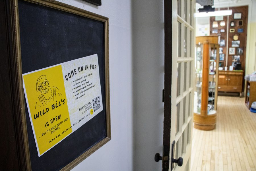 Wild Bill's Workshop is seen on Aug. 23, 2021 on North Hall at the University of Iowa. (Grace Smith/The Daily Iowan)