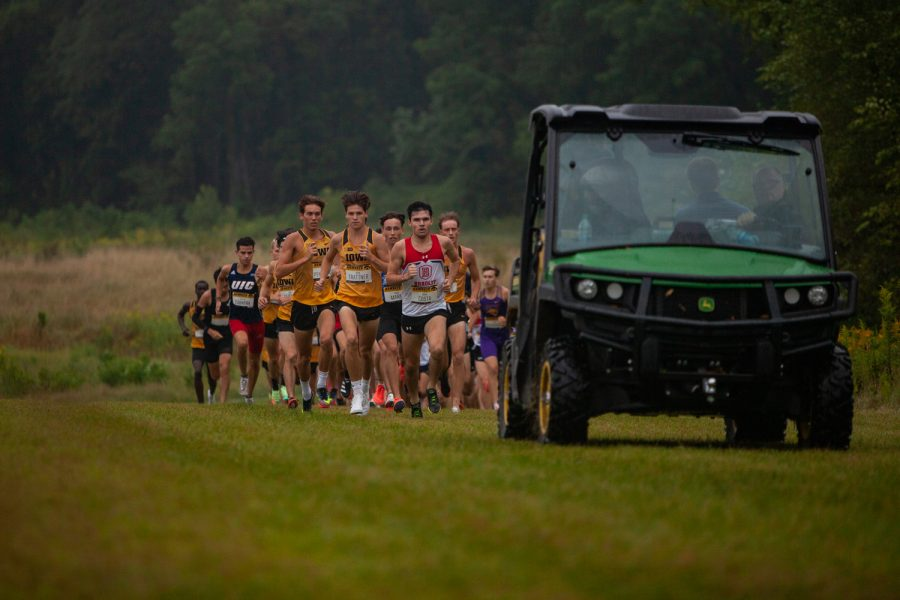 Runners compete in the Hawkeye Invite meet at the Ashton Cross Country Course on Friday, Sept. 3, 2021. The Iowa men's team won the race with 35 points.