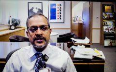 University of Iowa Hospitals and Clinics CEO Suresh Gunasekaran speaks at a virtual press conference on Sept. 22.