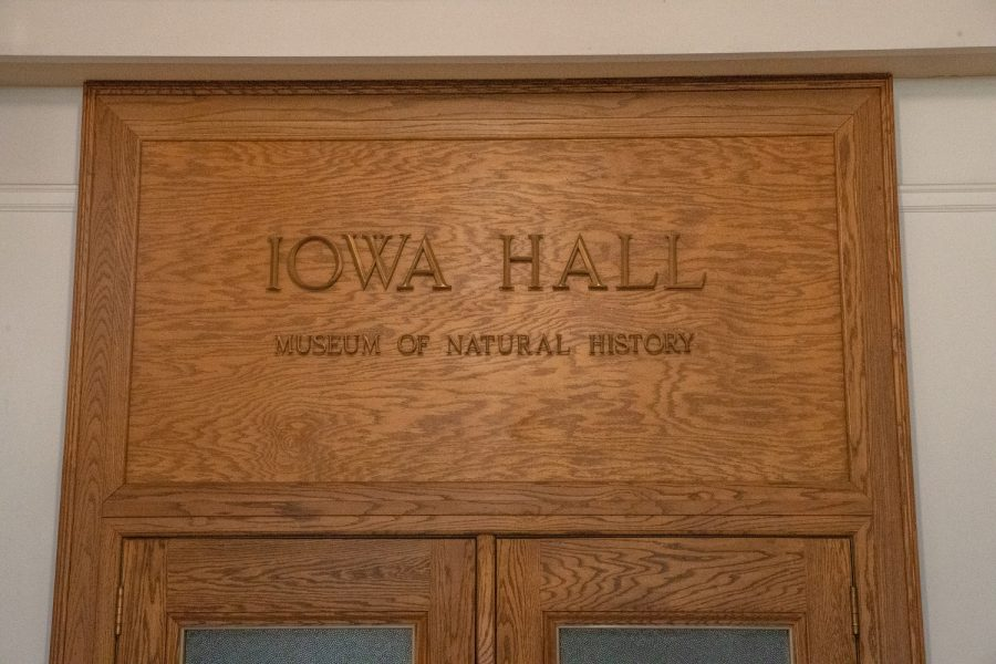 The Iowa Hall Museum of Natural History is seen in MacBride Hall at the University of Iowa on Monday, Aug. 23, 2021.