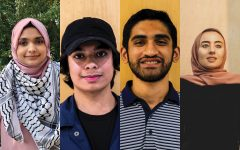 From left: Hibah Lateef (contributed), Mushroor Kamal, Aliyan Warraich, Hanaa Masalmeh (contributed).